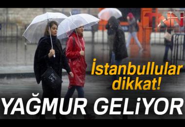 İstanbul'da Yarın Yağmur var