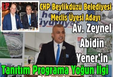 Meclis Üyesi Adayı Av. Zeynel Abidin Yener: 'Amacım rant değil hizmet etmek'