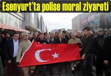Esenyurt'ta polise moral ziyareti