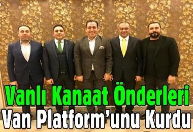 Vanlı Kanaat Önderleri Van Platform'unu Kurdu