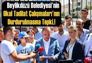 Beylikdüzü'nde, Belediyenin Okul Tadilat Çalışmaları'nın Durdurulmasına Tepki