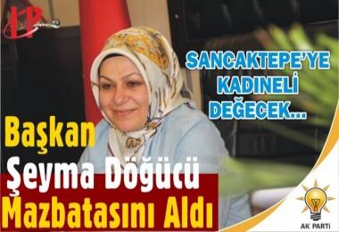 Sancaktepe Belediye Başkanı seçilen Şeyma Döğücü mazbatasını aldı
