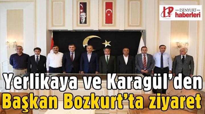Yerlikaya ve Karagül'den Başkan Bozkurt'ta ziyaret