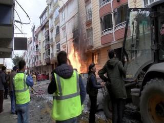 Esenyurt'ta İSKİ doğal gaz borusunu patlattı