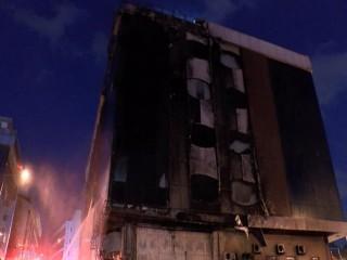 Beylikdüzü'nde bir otelde korkutan yangın