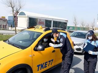 Esenyurt'ta Ticari Taksilere Tek-Çift Plaka Denetimi