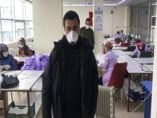 Ardahan Belediyesi maske üretimine başladı