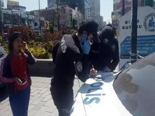 Esenyurt'ta maskesiz dolaşan kadına 3 bin 150 TL ceza