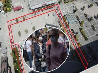 Marmara Park AVM'ye giriş kuyruğu!