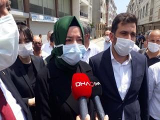 AK Partili Kaya, Esenyurt'ta incelemelerde bulundu
