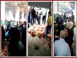 Esenyurt'ta pazar protestosu: Zabıta Uyarılarını Hiçe Saydılar!