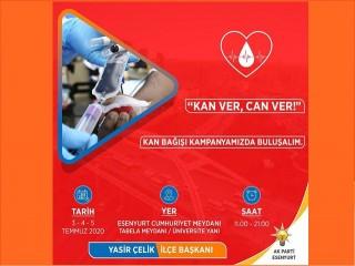 Esenyurt Ak Parti'den Kan Bağışı Kampanyası