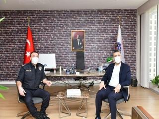 Başkan Bozkurt'tan İlçe Emniyet Müdürü Recep Tepebaş'ına ziyaret