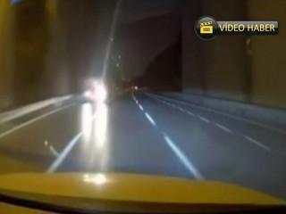 Esenyurt'ta ters yönde ilerleyen sürücü şoke etti