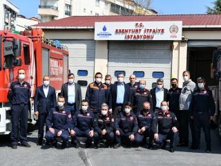 Başkan Bozkurt'tan Esenyurt İtfaiye İstasyonuna ziyaret