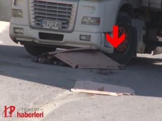Esenyurt'ta tır sürücüsünün feci ölümü