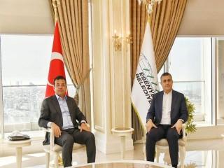 İBB Başkanı İmamoğlu, Başkan Bozkurt'u ziyaret etti