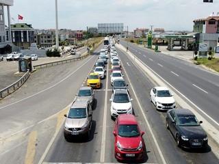 Tekirdağ'dan İstanbul yönüne araç yoğunluğu