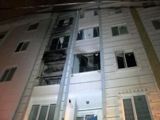 Esenyurt'ta bir binada doğalgaz patladı