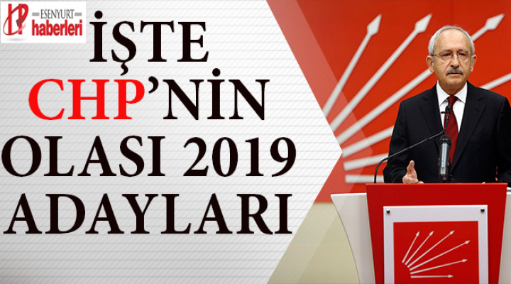 CHP'nin İstanbul ve Ankara için 2019 Adayları