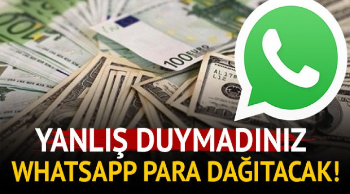 WhatsApp dolar dağıtacak!