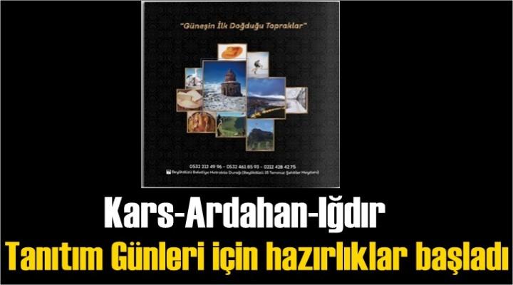 Kars-Ardahan-Iğdır Tanıtım Günleri için hazırlıklar başladı