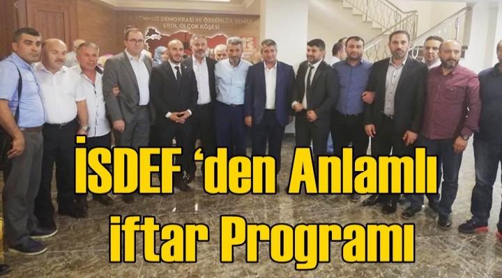 İSDEF'den Anlamlı iftar Programı