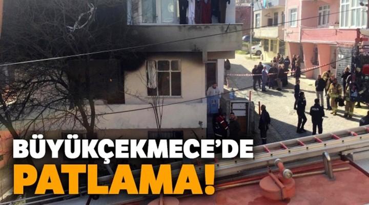 Büyükçekmece'de bir binada patlama!