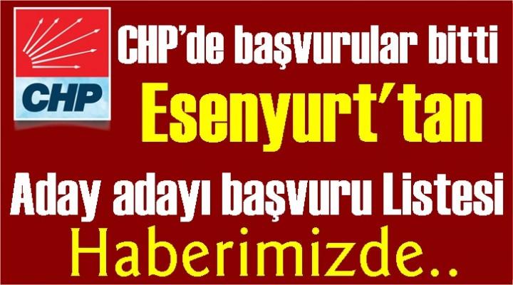 CHP'de başvurular bitti