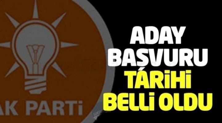 AK Parti'de adaylık başvuruları için start veriyor
