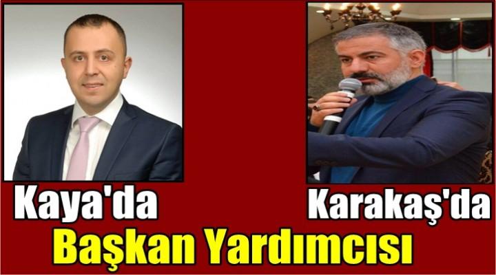Karakaş'da Kaya'da Başkan Yardımcısı