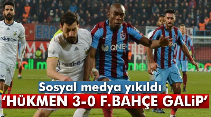 Trabzonspor - Fenerbahçe maçı sosyal medyayı salladı