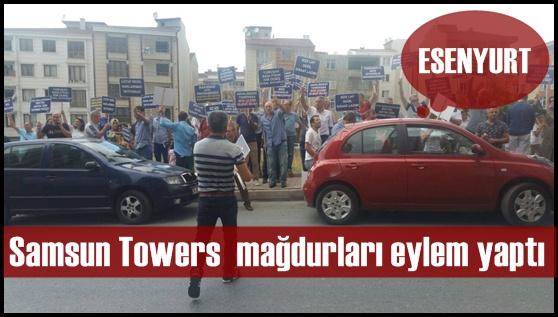 Samsun Towers mağdurları eylem yaptı