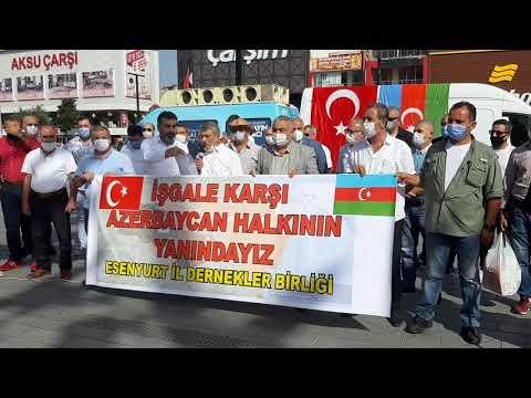 Esenyurt İl Dernekler Birliği'nden Azerbaycan'a Destek..