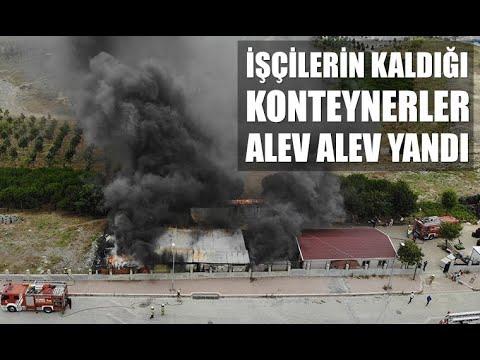 Esenyurt'ta işçilerin kaldığı konteynerlerde yangın çıktı!