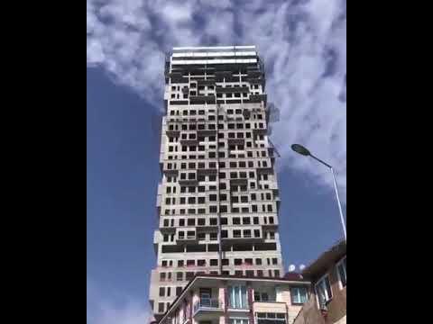 Esenyurt çok katlı bina beşik gibi sallandı!