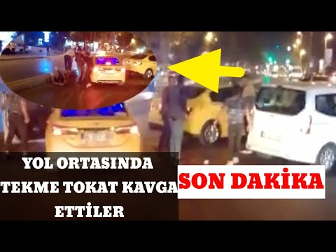 Esenyurt'ta Taksiciler Yol Ortasında Kavga Etti!